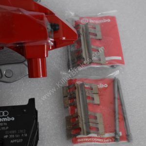 Audi RS3 8v Brembo 8Pot Calipers 20.7675.02 with brackets and pads NEW Red -10