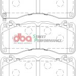 Ford Mustang GT 5.0 Front Street Performance Brake Pads DB9021SP (Hawk: HB805x.615)