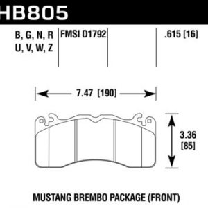 Ford Mustang GT 5.0 Front HB805B.615 Hawk Performance HPS 5.0 Brake Pads New