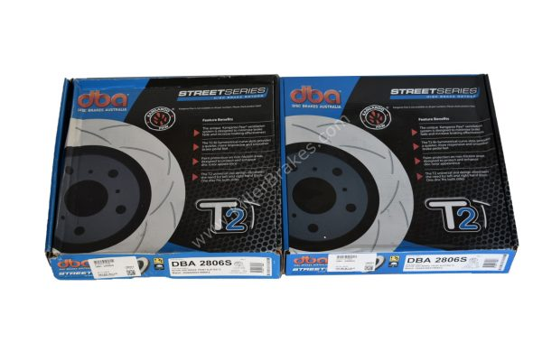 Front DBA 2806S Brake Discs 312x25mm Street Series T2 Slotted New